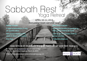 Sabbath Rest Holy Yoga Retreat